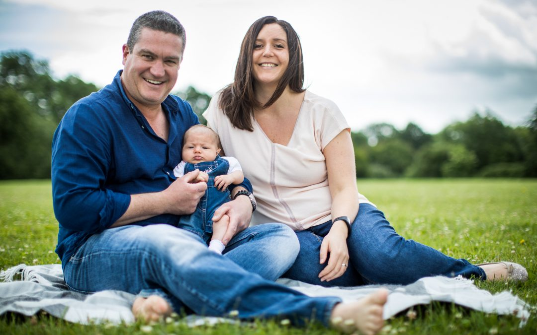 Family Portraiture – Rachel & Dan with Jessica