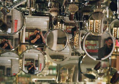 Inverted Shaving Mirror Selfie